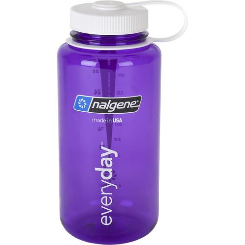 Nalgene Wide Mouth Bottle (32 fl oz, Purple with White Cap)