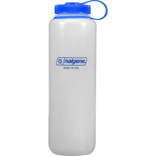 Nalgene Wide Mouth Bottle (48 fl oz, White with Blue Cap)