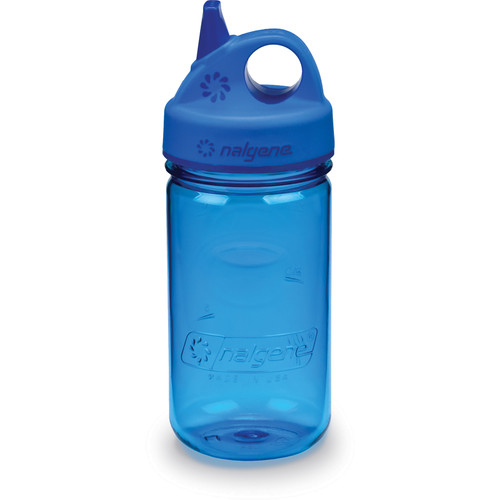 Nalgene Grip 'n Gulp Bottle (12 fl oz, Blue)