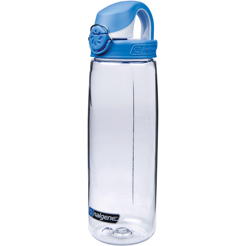 Nalgene On The Fly Bottle (24 fl oz, Clear with Blue Cap)
