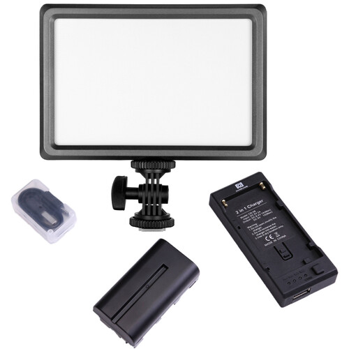 Nanguang LuxPad22H Bi-Color Slim High-Output LED Panel with Battery & Charger