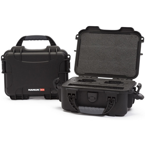 Nanuk 904 GoPro Case with Foam Insert for GoPro Series Cameras (Black)
