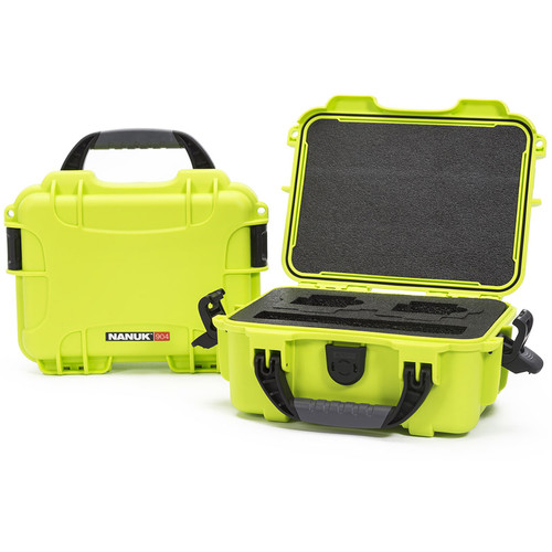 Nanuk 904 GoPro Case with Foam Insert for GoPro Series Cameras (Lime)