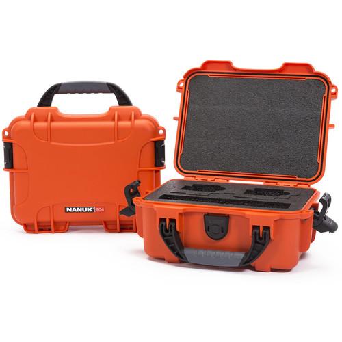 Nanuk 904 Waterproof Hard Case for GoPro (Orange)