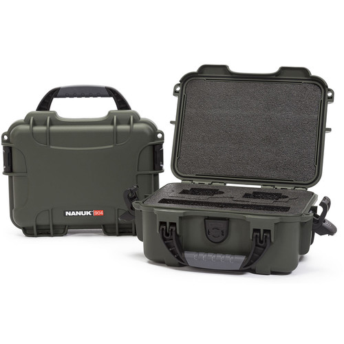 Nanuk 904 Waterproof Hard Case for GoPro (Olive)