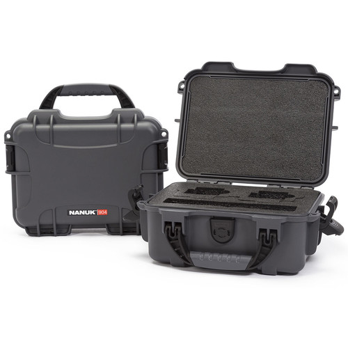Nanuk 904 Waterproof Hard Case for GoPro (Graphite)