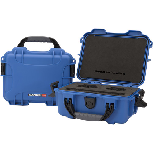 Nanuk 904 Waterproof Hard Case for GoPro (Blue)