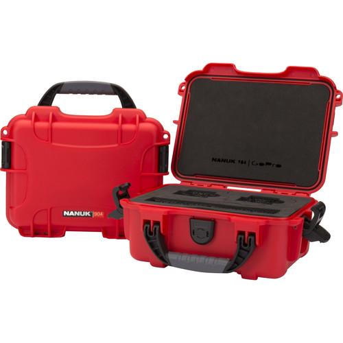 Nanuk 904 Waterproof Hard Case for GoPro (Red)