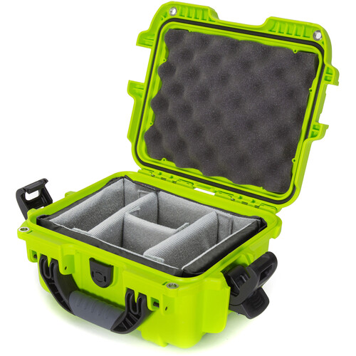 Nanuk 905 Case with Padded Dividers (Lime)