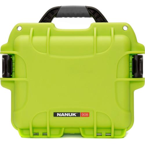 Nanuk 908 Case with No Foam (Lime)