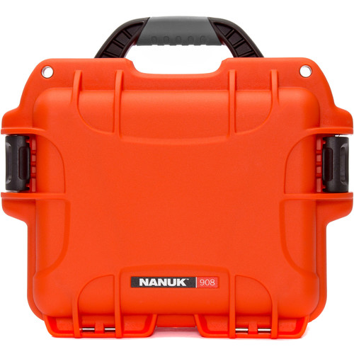 Nanuk 908 Case with No Foam (Orange)