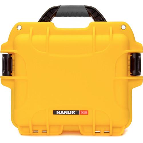 Nanuk 908 Case with No Foam (Yellow)