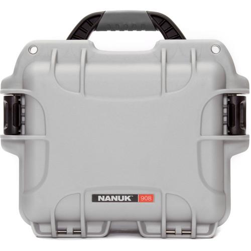 Nanuk 908 Hard Utility Case without Insert (Silver)