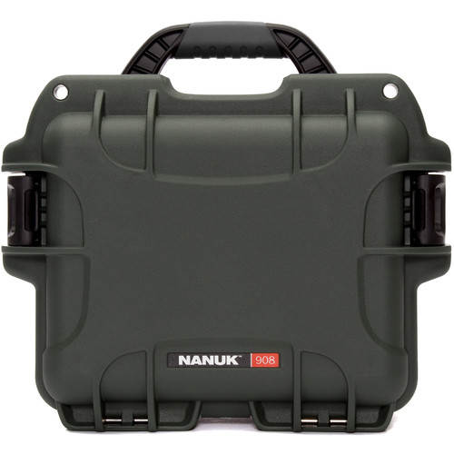 Nanuk 908 Case with No Foam (Olive)