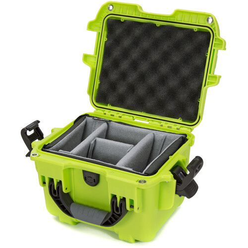 Nanuk 908 Case with Padded Dividers (Lime)