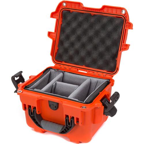 Nanuk 908 Hard Utility Case with Padded Divider Insert (Orange)