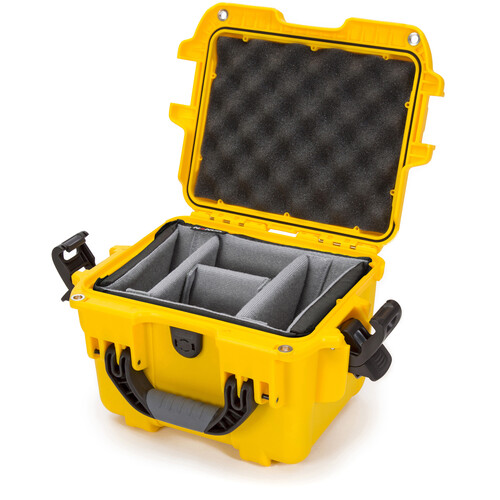 Nanuk 908 Case with Padded Dividers (Yellow)