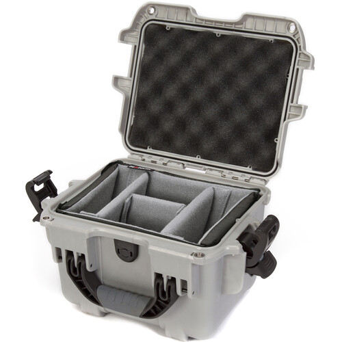 Nanuk 908 Case with Padded Dividers (Silver)