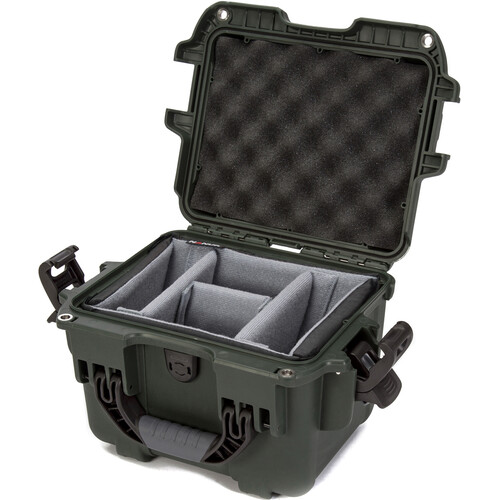 Nanuk 908 Case with Padded Dividers (Olive)