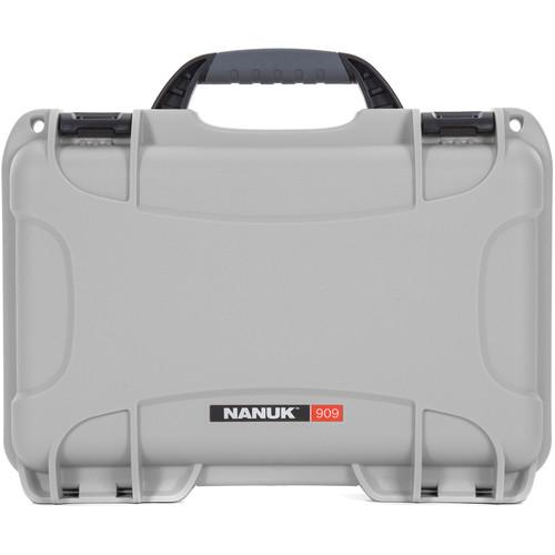 Nanuk 909 Series Case (Silver, with No Foam)