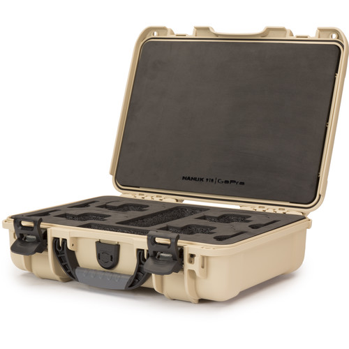 Nanuk 910 Waterproof Hard Case for GoPro (Tan)