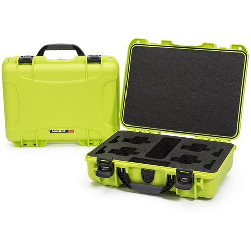 Nanuk 910 Waterproof Hard Case for GoPro (Lime)
