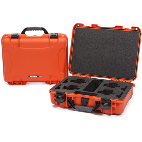 Nanuk 910 Waterproof Hard Case for GoPro (Orange)