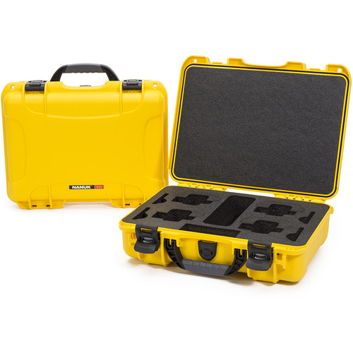 Nanuk 910 GoPro Case with Foam Insert for Four GoPro Cameras (Yellow)