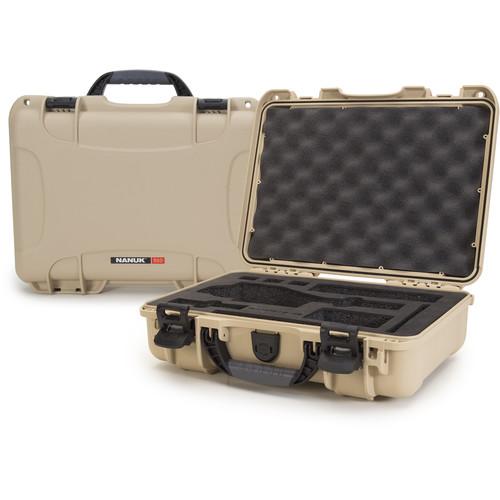 Nanuk Case with Foam Insert for DJI Osmo Series Cameras (Tan)