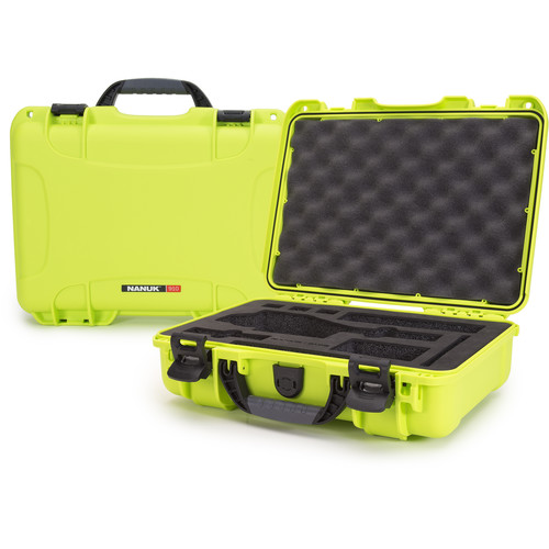 Nanuk Case with Foam Insert for DJI Osmo Series Cameras (Lime)