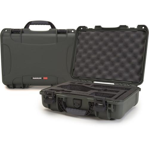 Nanuk Case with Foam Insert for DJI Osmo Series Cameras (Olive)