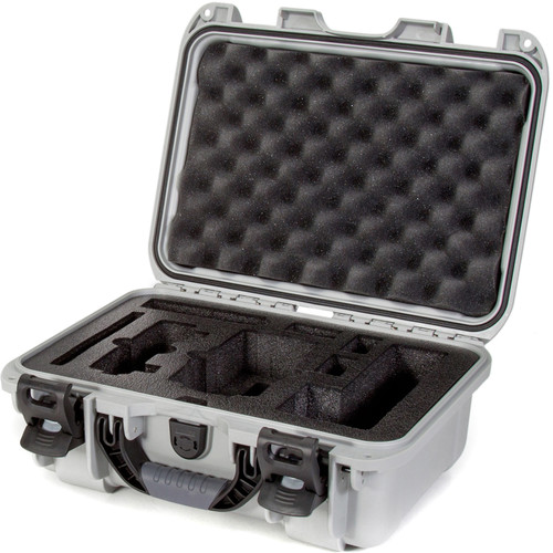 Nanuk 915 Waterproof Hard Case with Insert for DJI Mavic Air Fly More Combo (Silver)