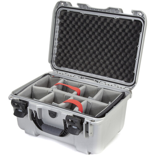 Nanuk 918 Case with Padded Dividers (Silver)