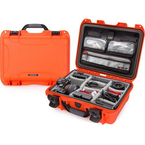 Nanuk 920 Hard Utility Case with Padded Divider Insert & Lid Organizer (Orange)