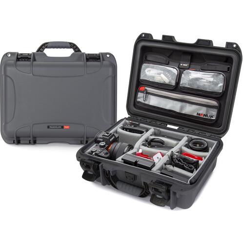 Nanuk 920 Hard Utility Case with Padded Divider Insert & Lid Organizer (Graphite)