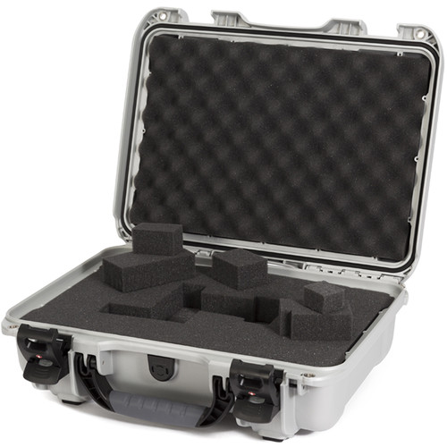 Nanuk 923 Protective Case with Cubed Foam (Silver)