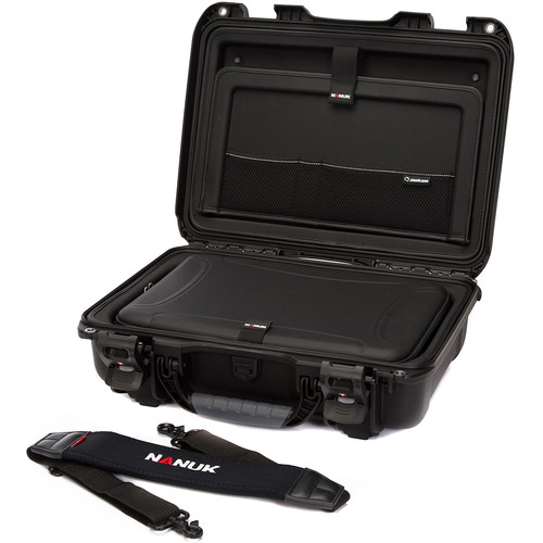 "Nanuk Hard Case with Sleeve & Shoulder Strap for 15"" Laptop (Black)"