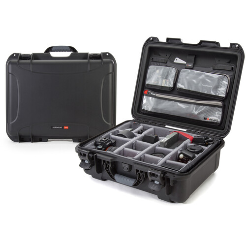 Nanuk 930 Case with Lid Organizer and Dividers (Black)
