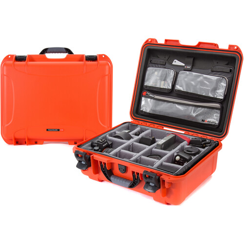 Nanuk 930 Case with Lid Organizer and Dividers (Orange)