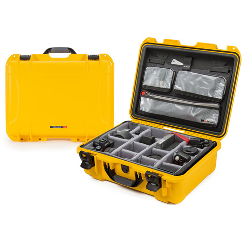Nanuk 930 Case with Lid Organizer and Dividers (Yellow)