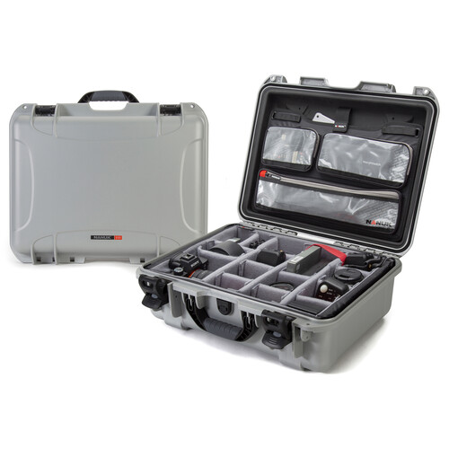 Nanuk 930 Case with Lid Organizer and Dividers (Silver)