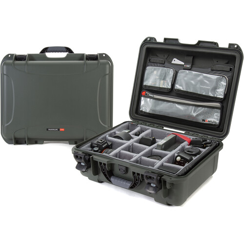 Nanuk 930 Case with Lid Organizer and Dividers (Olive)
