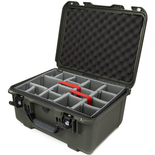 Nanuk 933 Protective Equipment Case with Padded Dividers (Olive)