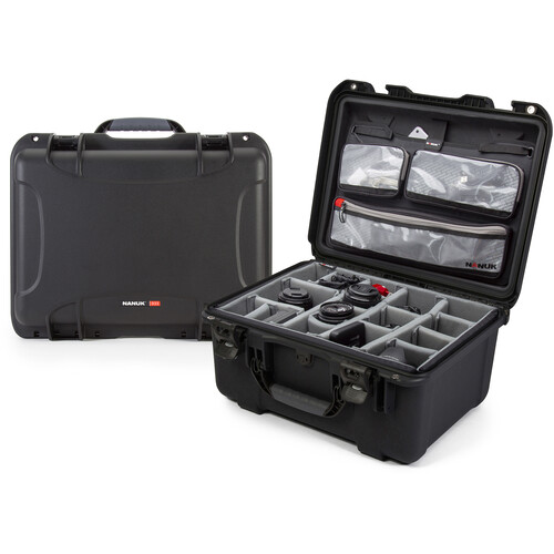 Nanuk 933 Case with Dividers and Lid Organizer