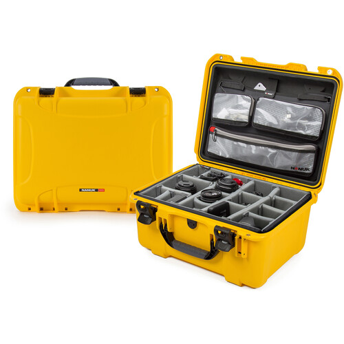 Nanuk 933 Case with Dividers and Lid Organizer (Yellow)