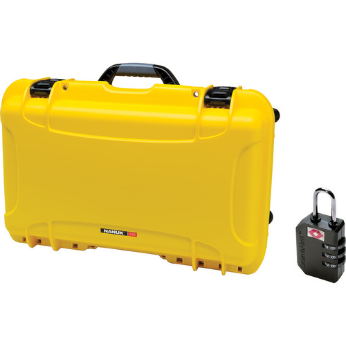 Nanuk Protective 935 Case with Padlock (Yellow)