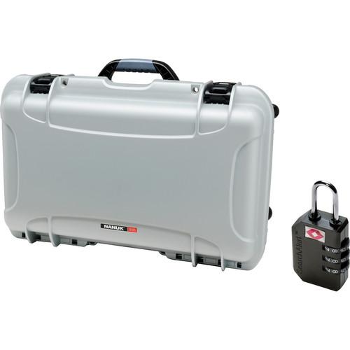 Nanuk Protective 935 Case with Padlock (Silver)