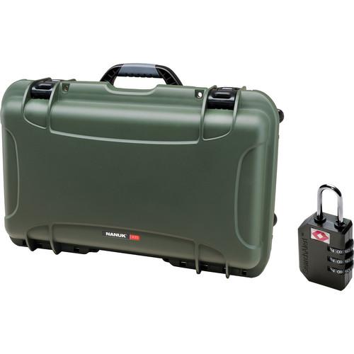 Nanuk Protective 935 Case with Padlock (Olive)