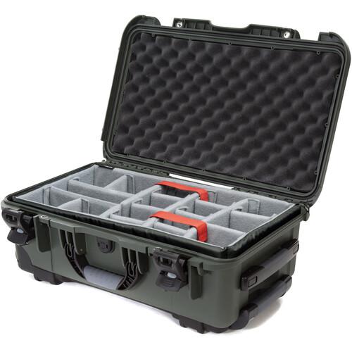 Nanuk 935 Wheeled Hard Utility Case with Padded Divider Insert (Olive)