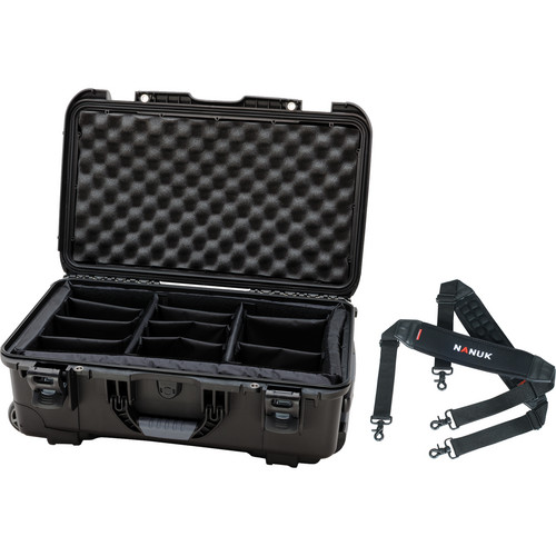 Nanuk Protective 935 Case with Padded Dividers & Shoulder Strap (Black)